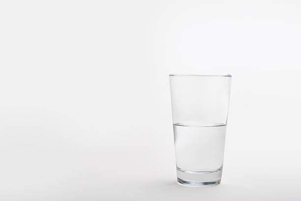 Pint Glass Half Full stock photo