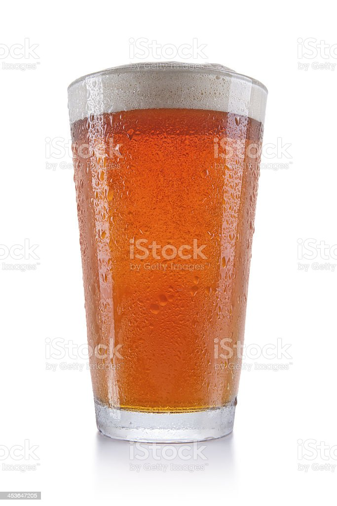 Pint of Amber Beer stock photo