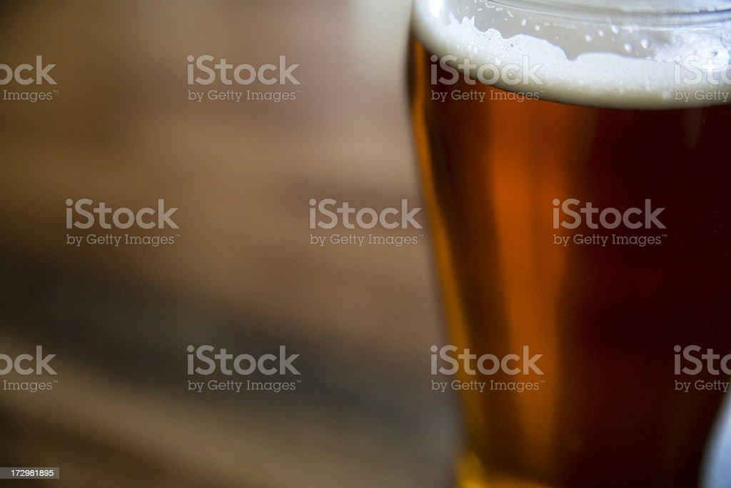 Pint of beer. stock photo