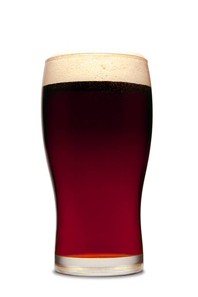 pint of beer - dark beer stock photos and pictures