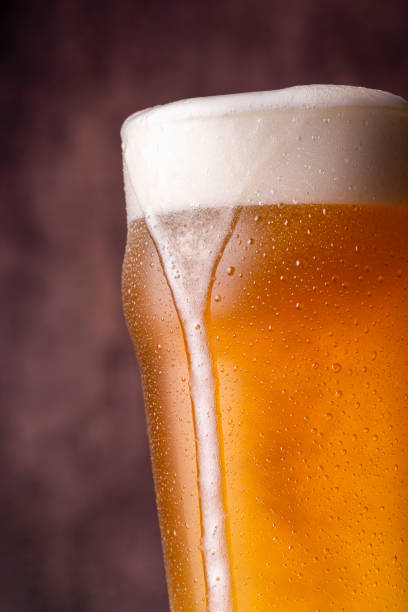 Pint of cold pale beer stock photo