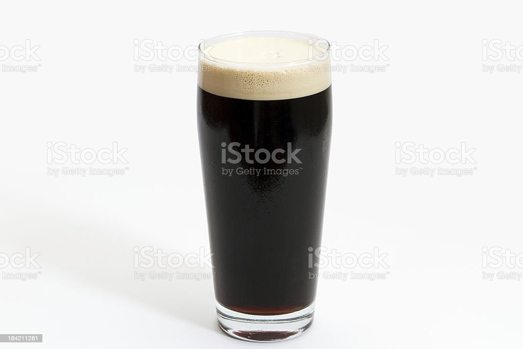 Pint of Draft Irish Stout stock photo