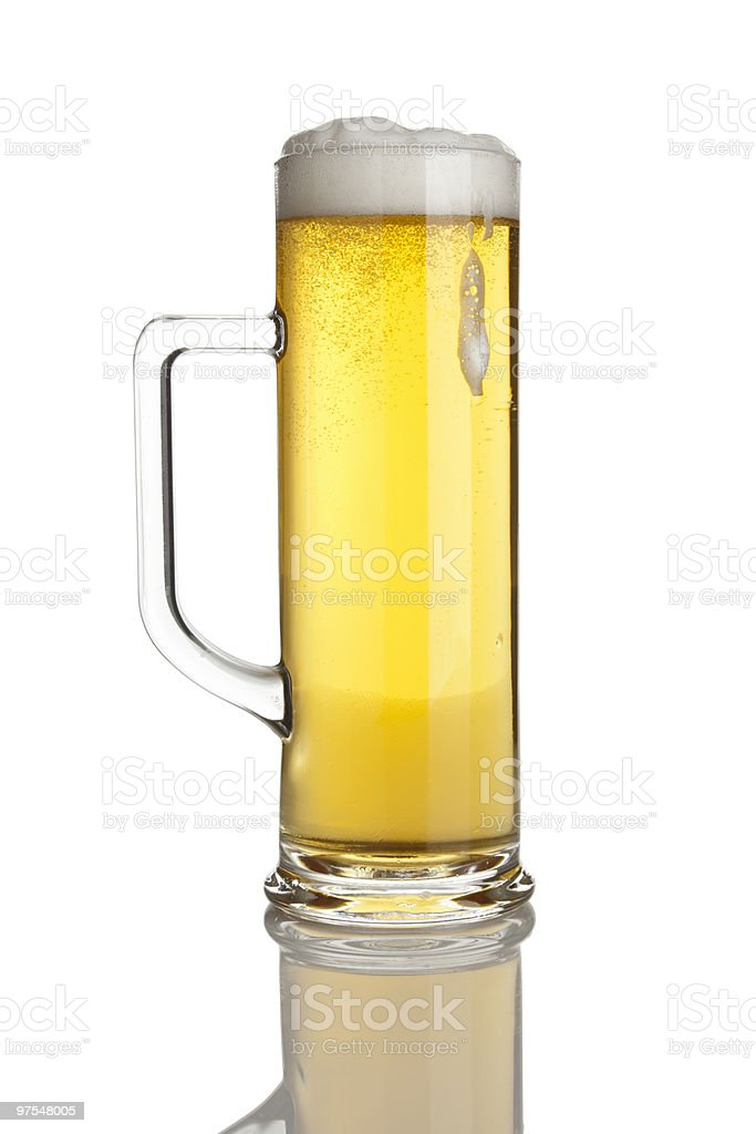 pint of fresh lager beer isolated royalty-free stock photo