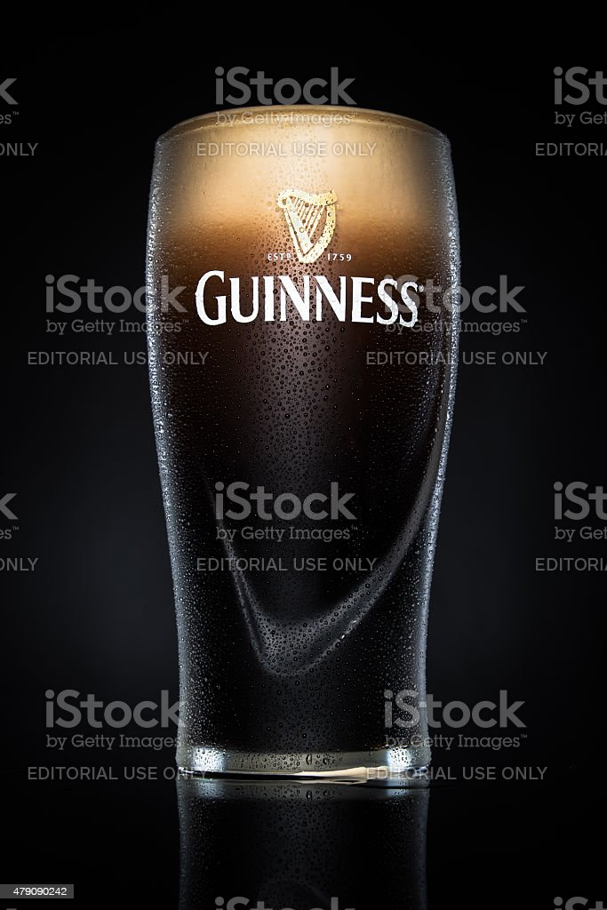 Pint of Guinness beer stock photo
