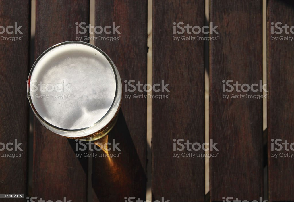 Pint of lager royalty-free stock photo