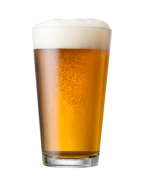 IPA Pint Craft beer draft pour in a glass shaker pint glass. beer glass stock pictures, royalty-free photos & images