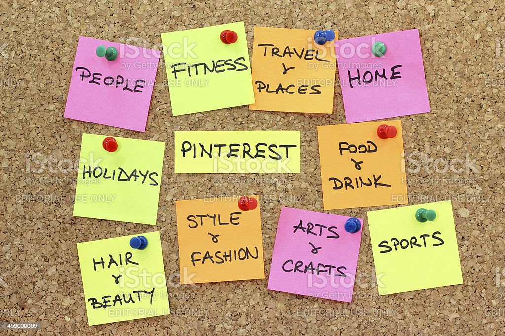 Pinterest Categories royalty-free stock photo