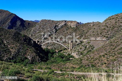 Bridge over a canyon along US60, the Gila-Pinal Scenic Road