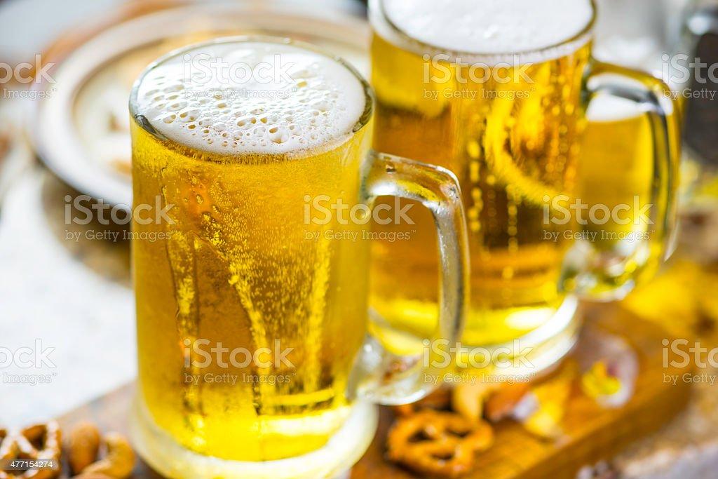 Pints of Beer stock photo