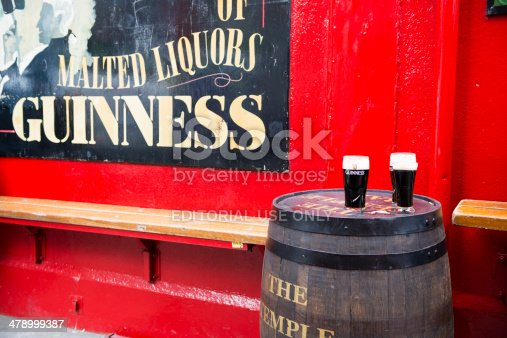 172763398 istock photo Pints of Guinnesss at Temple Bar Dublin 478999387