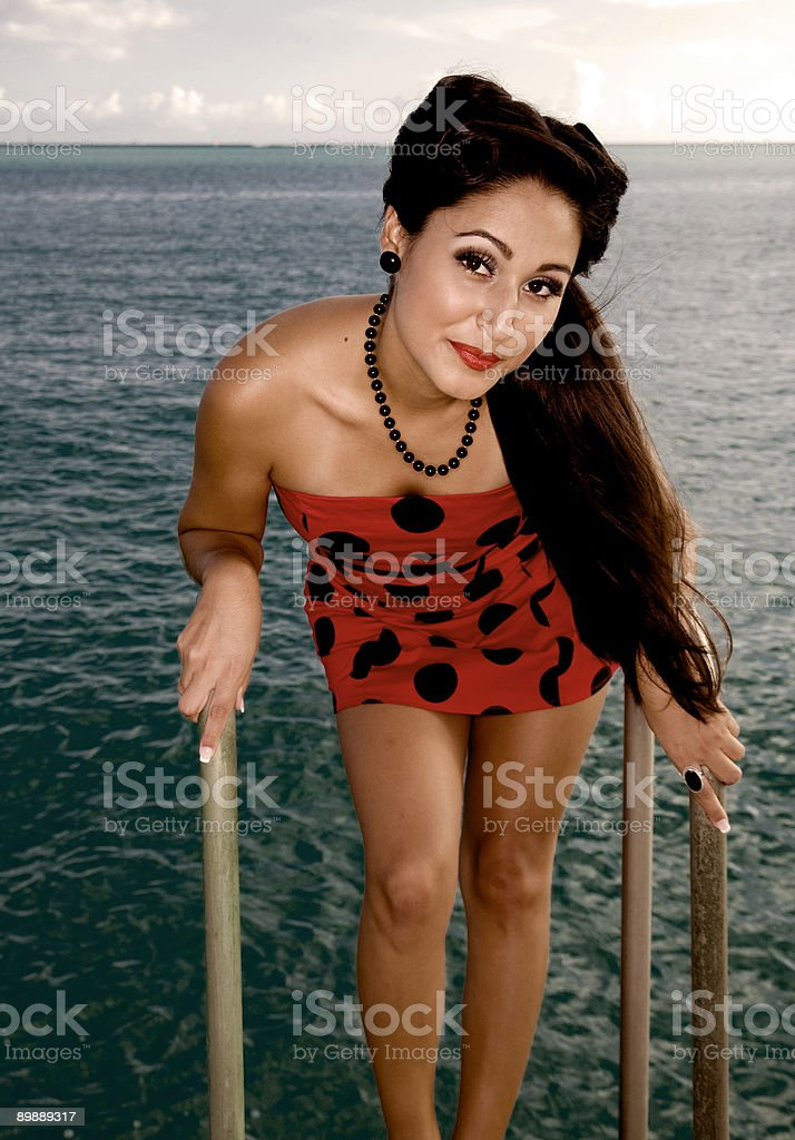 Pin-up-Schönheit Lizenzfreies stock-foto