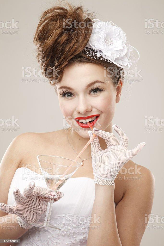 Pin-up bride royalty-free stock photo