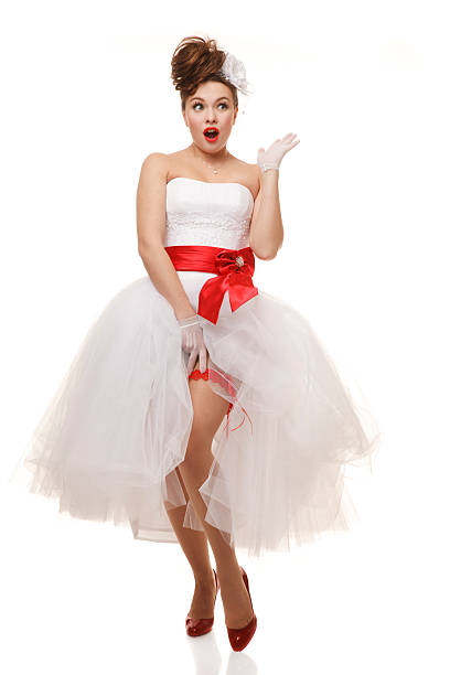 Royalty Free Pin Up Girl Retro Revival Wedding Dress Old Fashioned ...