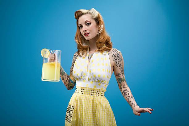 Pinup Lemonade Series stock photo