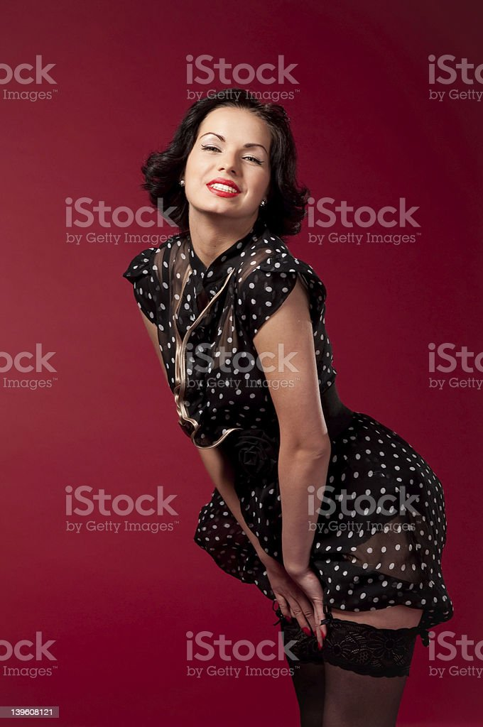 Pin-up portrait royalty-free stock photo