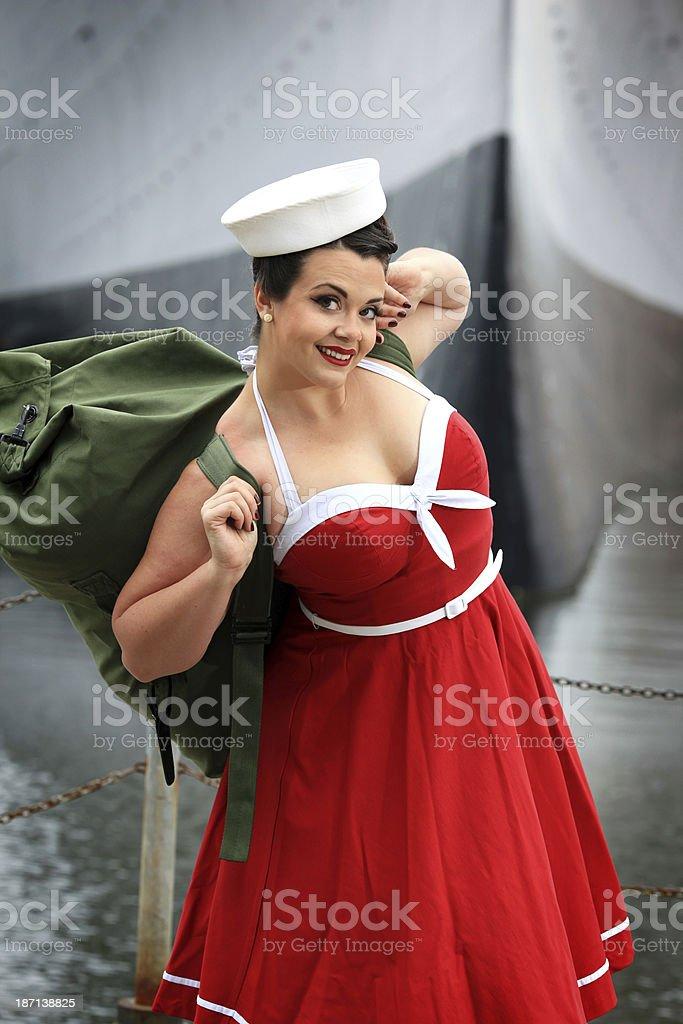 Pin-up Sailor royalty-free stock photo