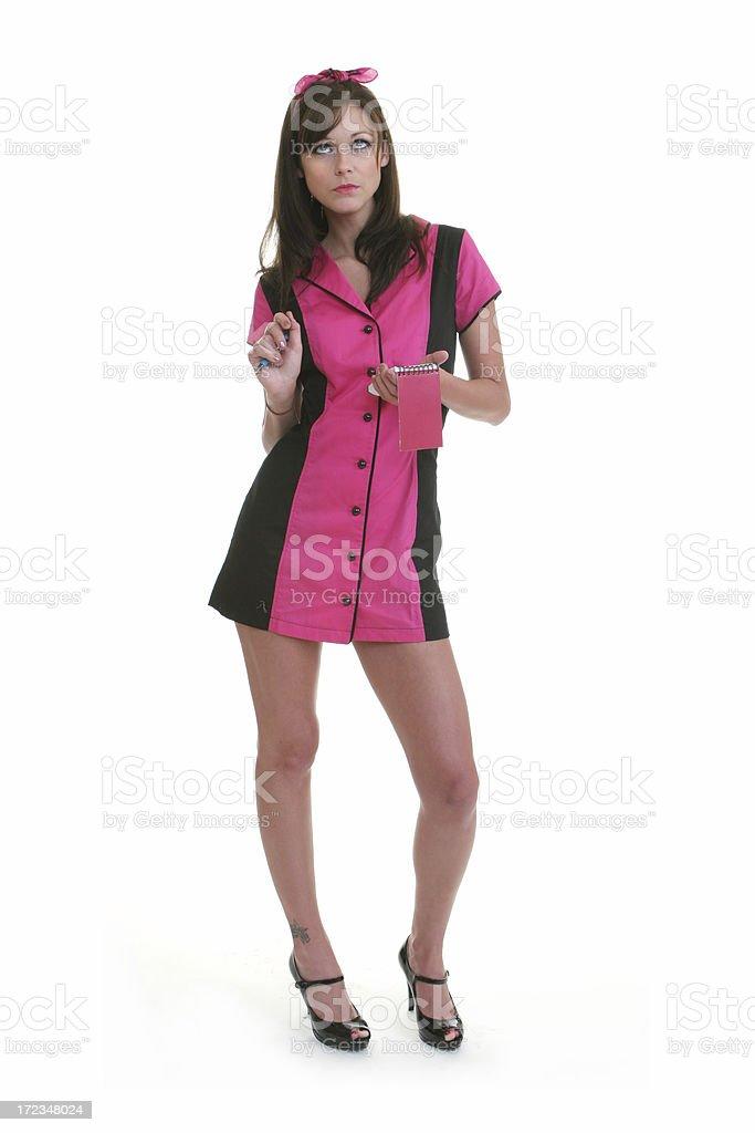 Pin-up Series - waitress stock photo