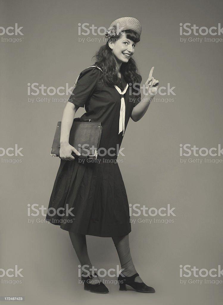 Pin-up Style. My graduation album royalty-free stock photo