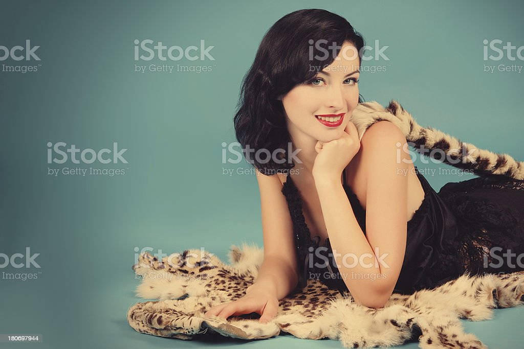 Pin-up Style royalty-free stock photo
