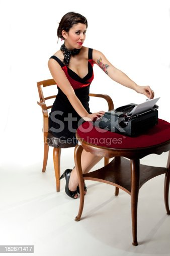 istock Pin-Up Style Sexy Secretary 182671417