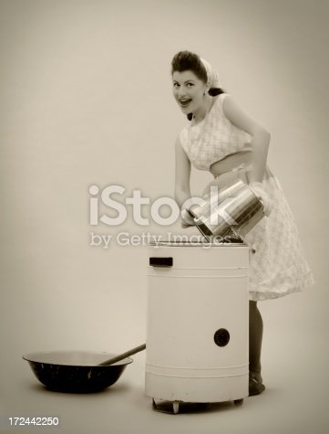 istock Pin-up style. The Big Wash! 172442250