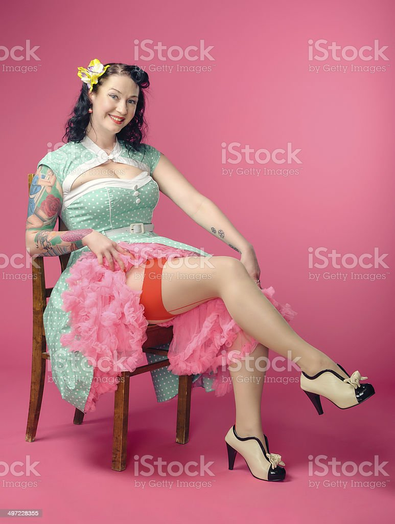 Pin-up woman stock photo