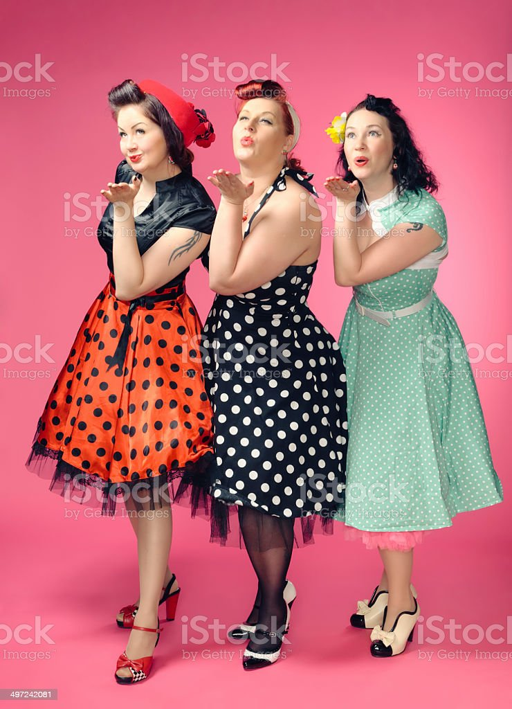 Pin-up women stock photo