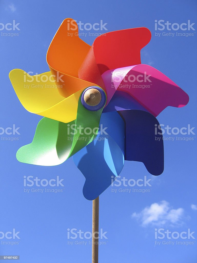 pinwheel royalty-free stock photo