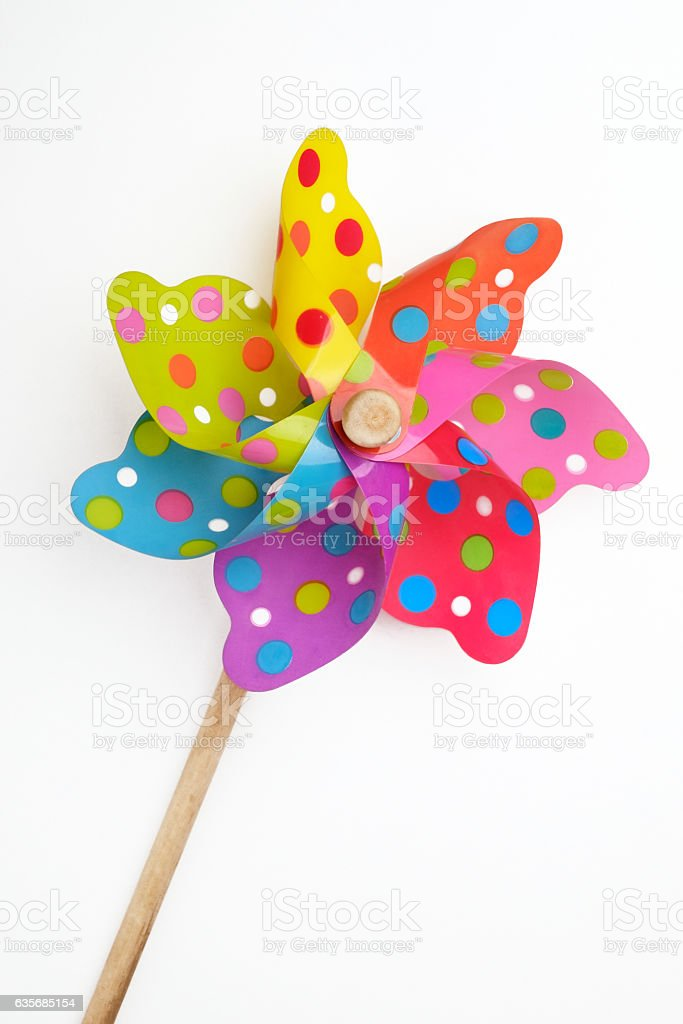 Pinwheel Toy stock photo