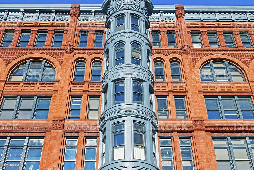 Pioneer Building in downtown Seattle WA royalty-free stock photo