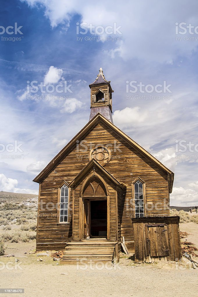 Pioneer Church at Bodie Ghost Twon stock photo