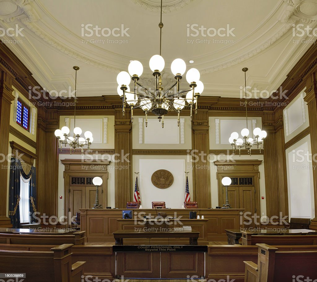 Pioneer Courthouse Courtroom in Portland Oregon Downtown stock photo