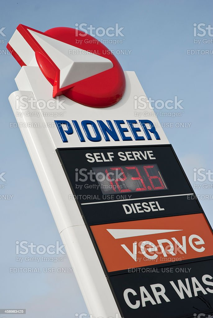 Pioneer gas station royalty-free stock photo