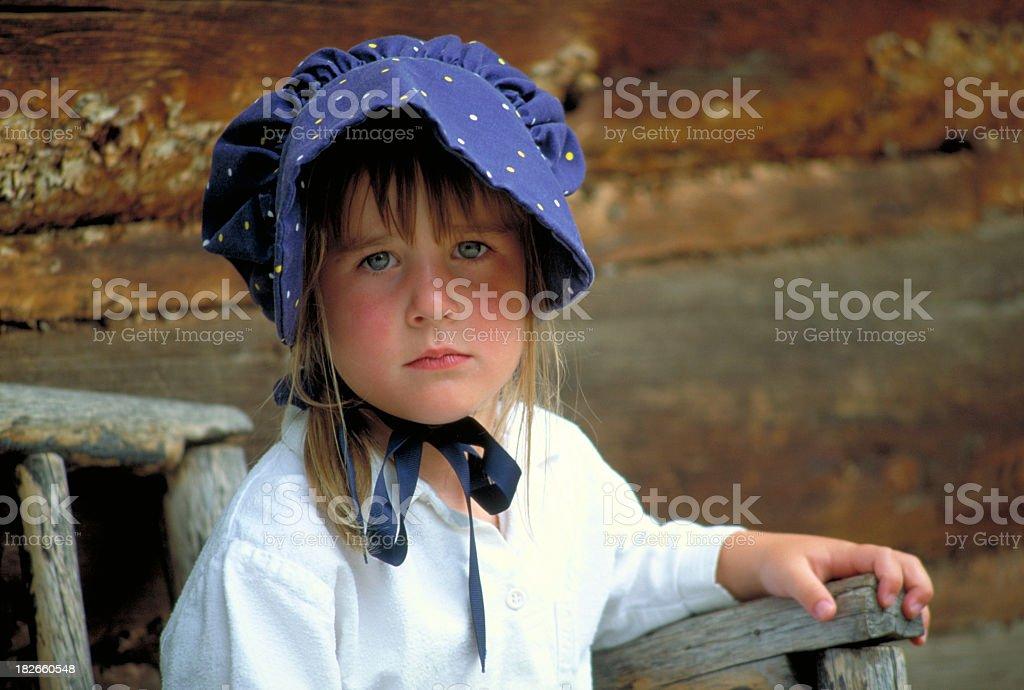 Pioneer Girl stock photo