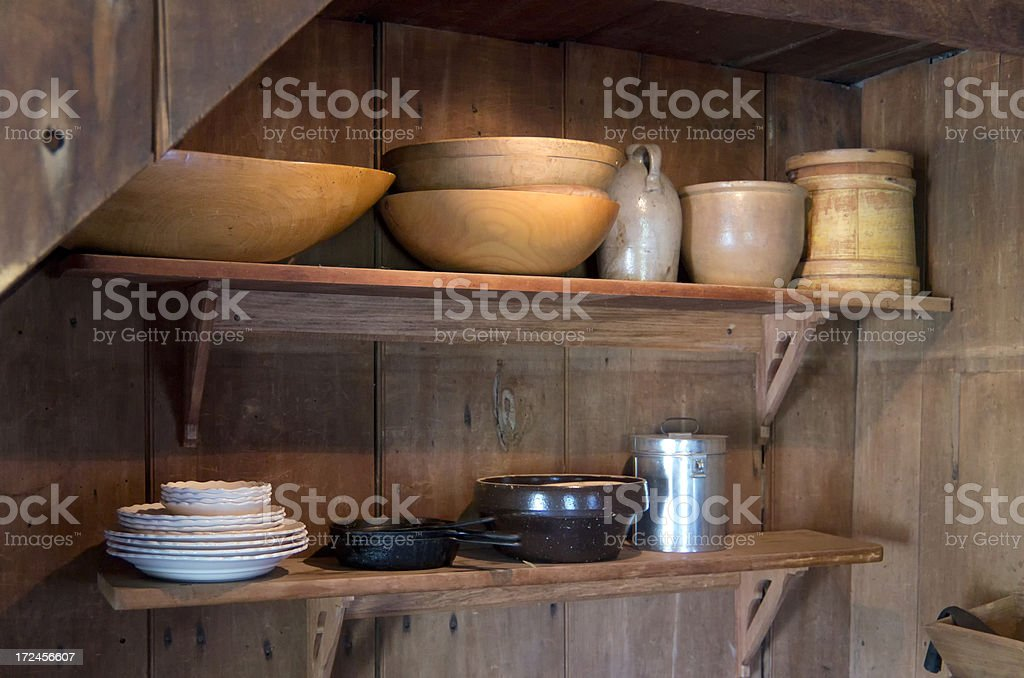 Pioneer Home Pantry royalty-free stock photo
