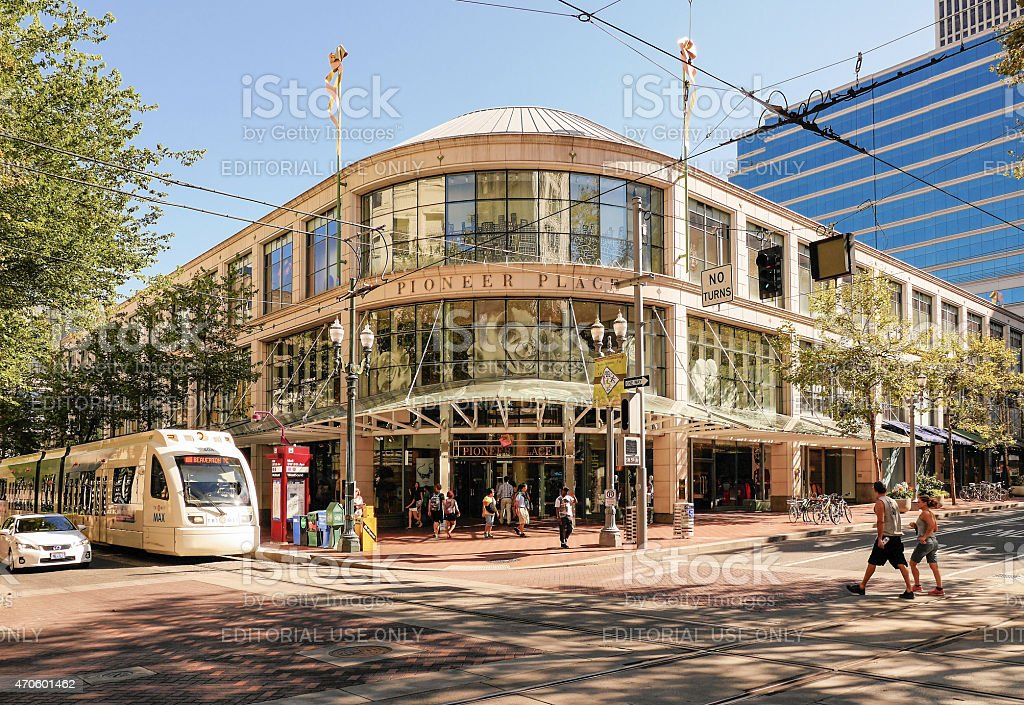 Pioneer Place Portland Oregon stock photo