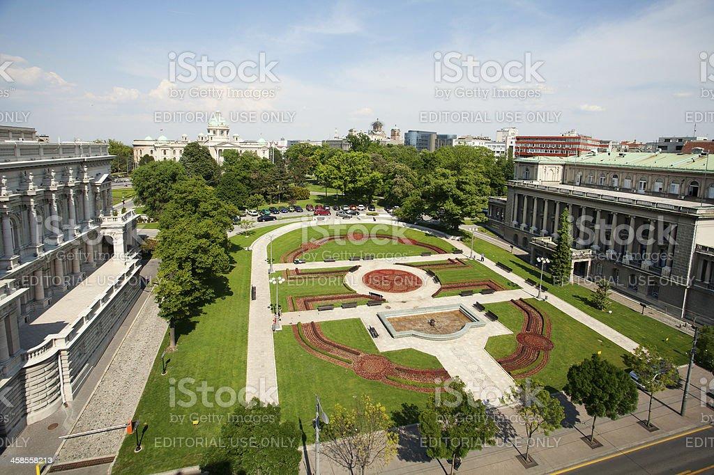 Pioneer Square, Belgrade, Serbia, Europe stock photo