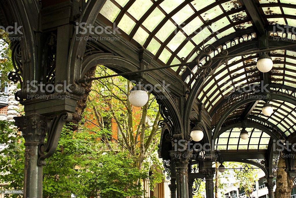 Pioneer Square pergola in Seattle, WA royalty-free stock photo
