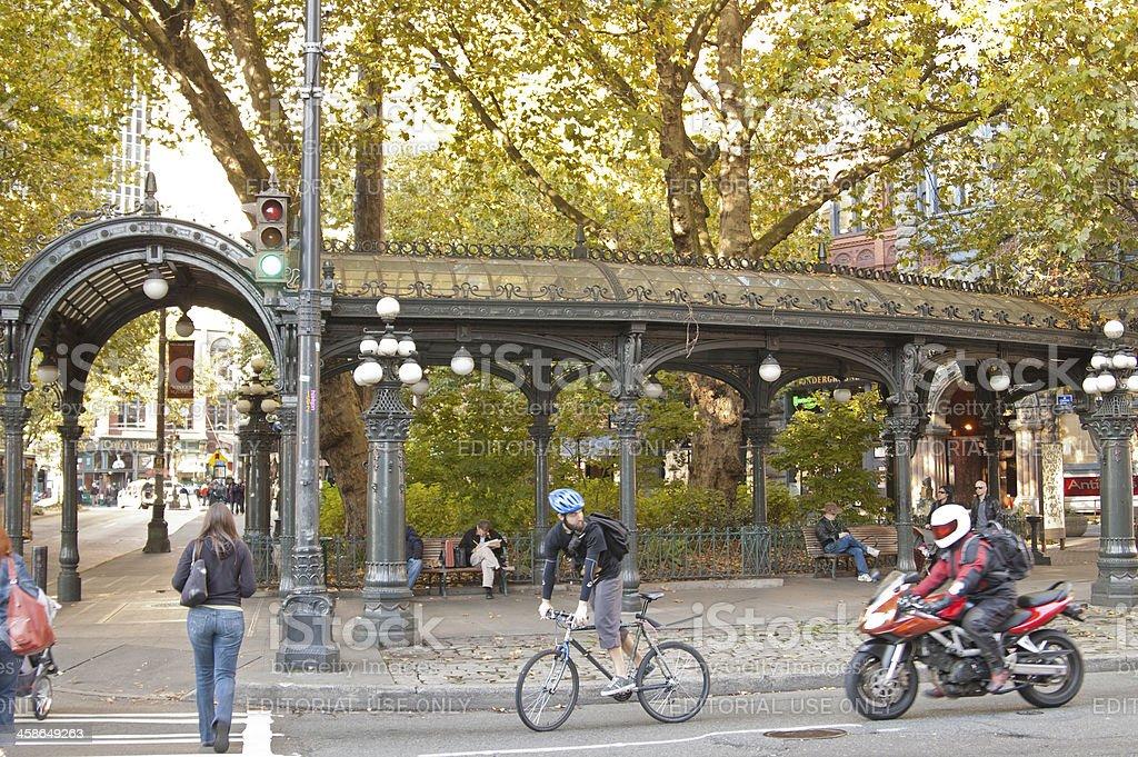 Pioneer Square stock photo