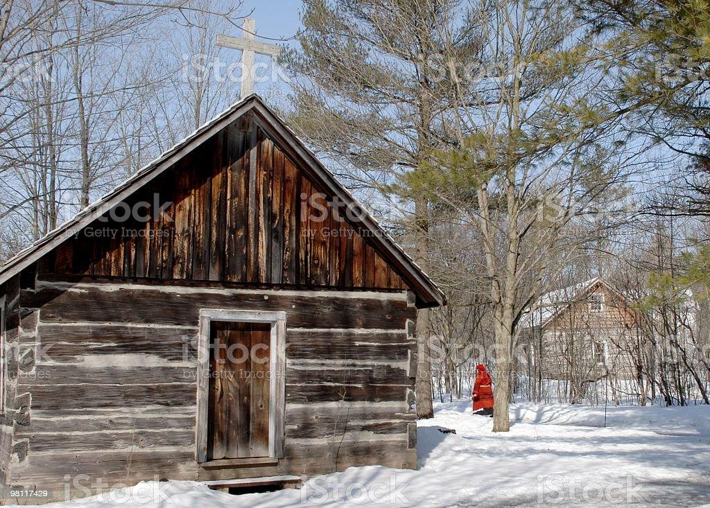 Pioneer Winter royalty-free stock photo