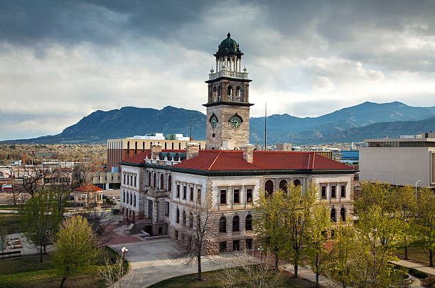 Pioneers museum in Colorado Springs, Colorado stock photo