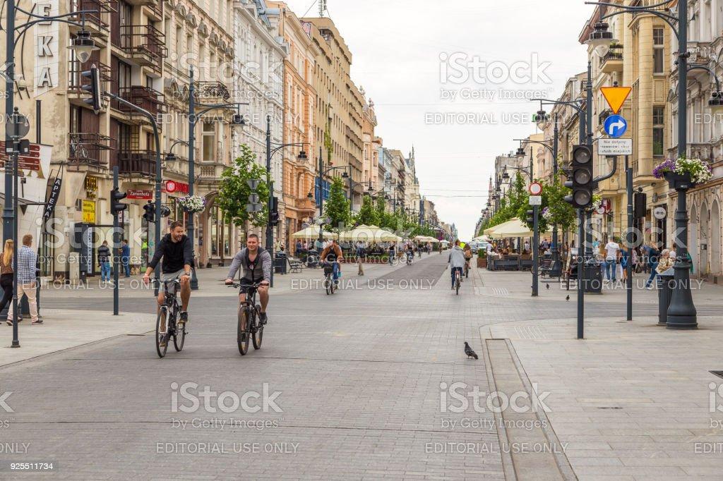 Piotrkowska Street. Main shopping street and representative, shopping...