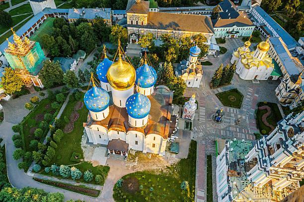 Piously-Troitsk Sergieva of Laurels. stock photo