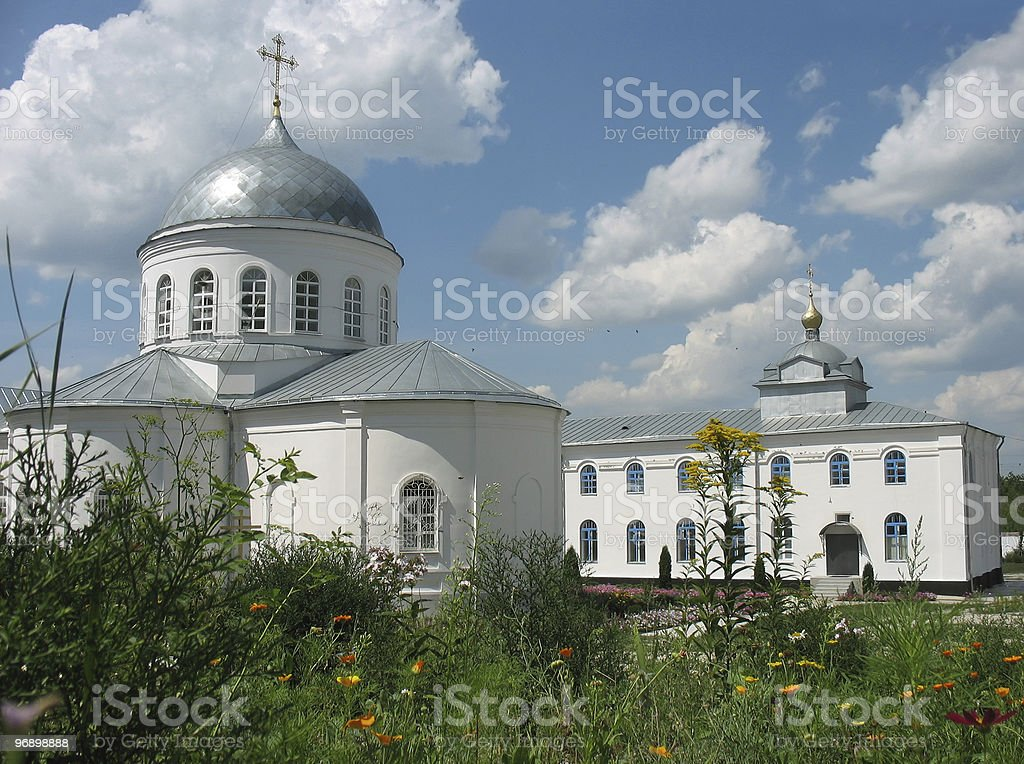 Piously-Uspensky monastery for men. Divnogorie. Russia. Voronezh region. royalty-free stock photo