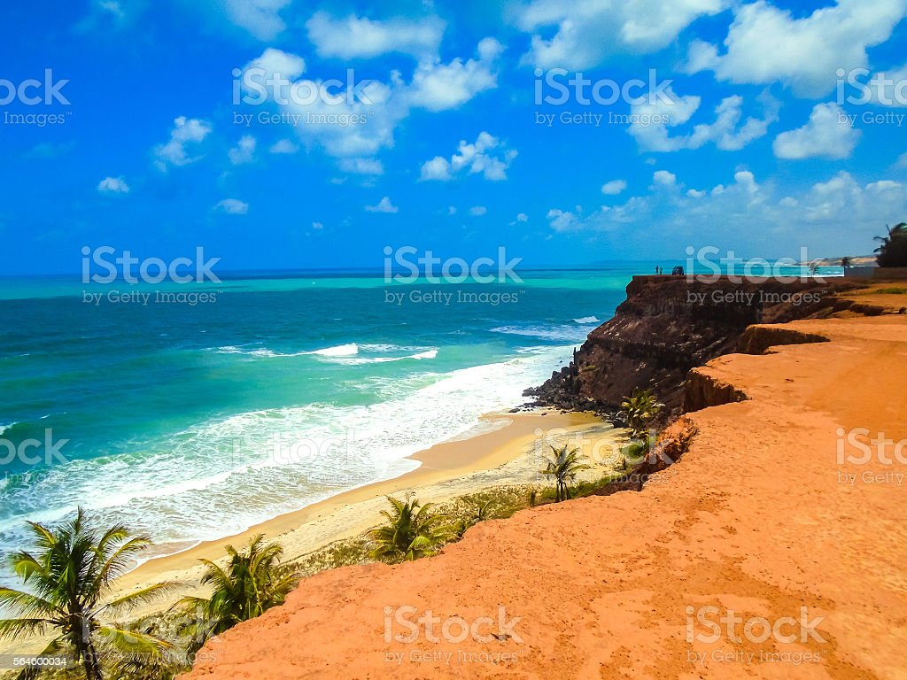 Pipa Beach in Brazil stock photo
