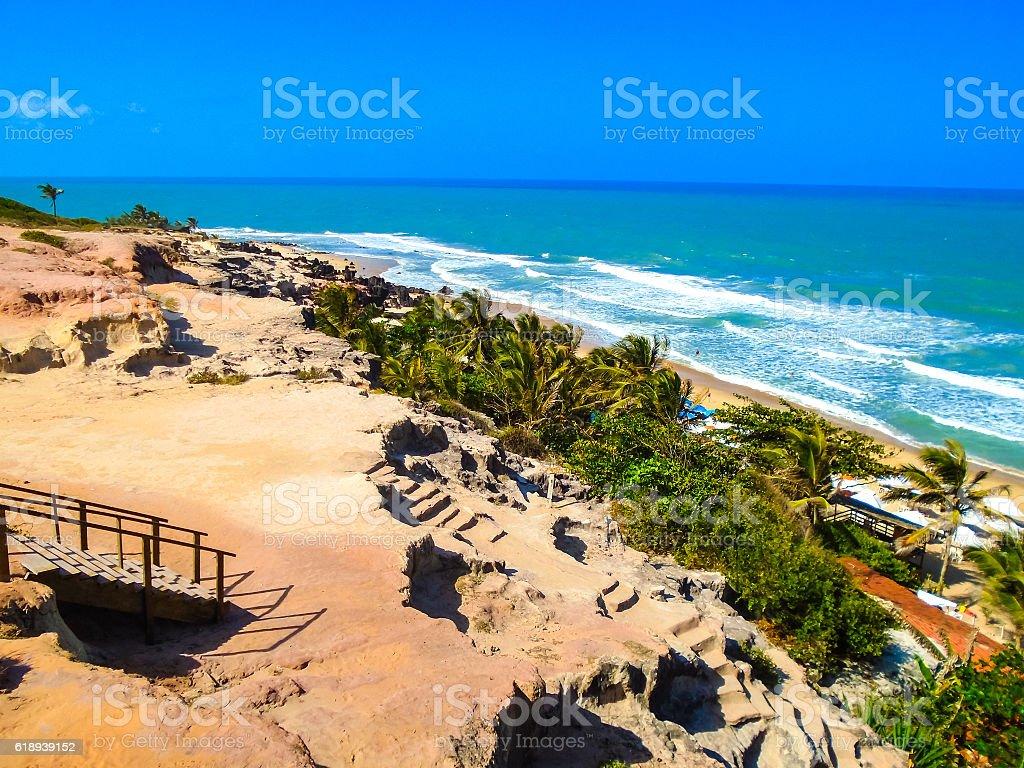 Pipa Beach in Brazil stock photo