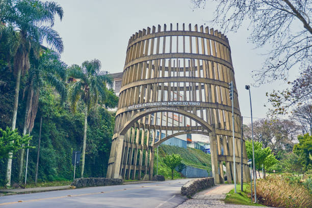 Pipa Pórtico ist ein Portikus befindet sich am Haupteingang der Stadt von Bento Gonçalves, Serra Gaúcha. – Foto