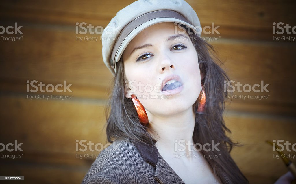 Pipe and Beauty stock photo