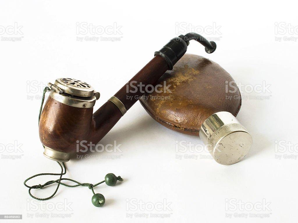 Трубы и Колба Изолирован на белом Стоковые фото Стоковая фотография