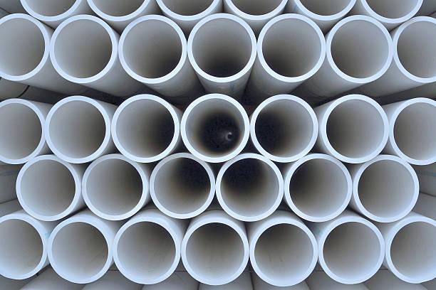 pvc pipe array pattern - pvc stock-fotos und bilder